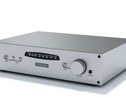 3D model Steel Stereo Amplifier Roksan