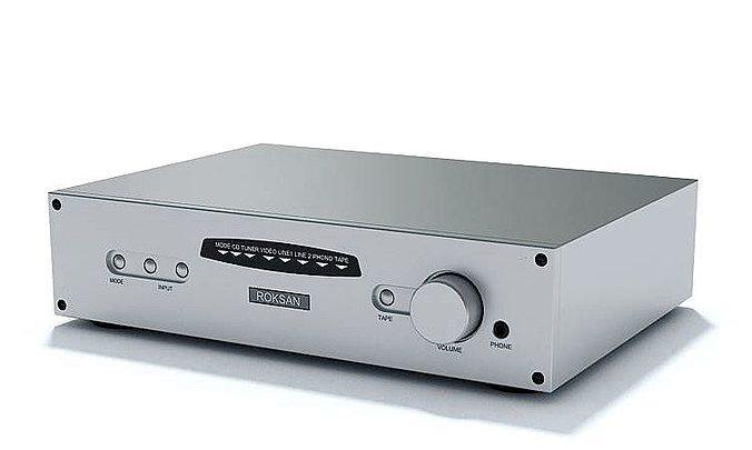 steel stereo amplifier roksan 3d model max 1