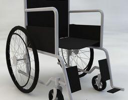 3d model game-ready medical wheelchair