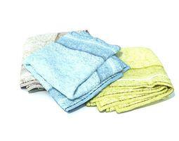multicolored towels 3d model