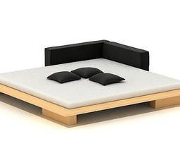 3D Modern Square Bed