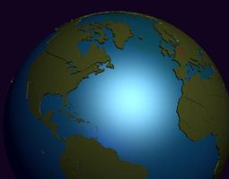 Earth Political Globe 3D political