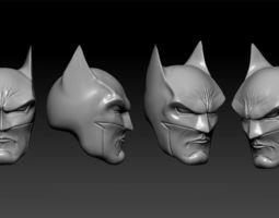 batman heads sculpt for action figure 3d print model