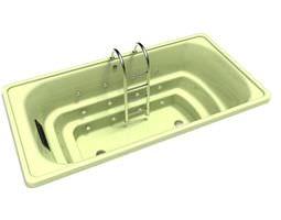 ladder bathtub jets 3d