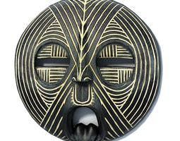 black african mask 3d model