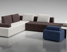 large multi color couch 3d model