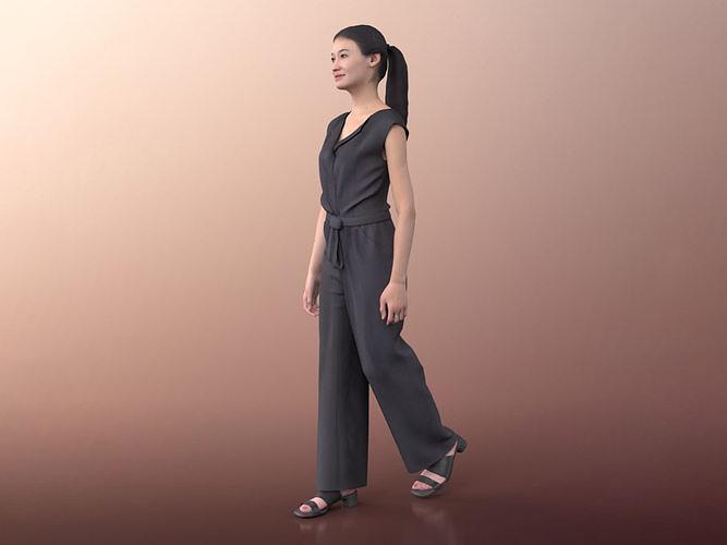 Francine 20023-02 - Animated Elegant Asian Woman Walking