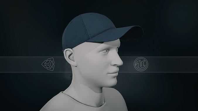 Blue Basketball Hat