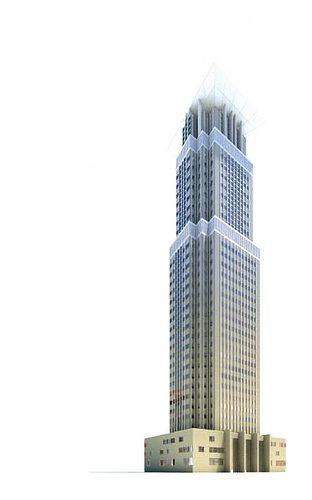 highrise skyscraper 3d model obj mtl 1