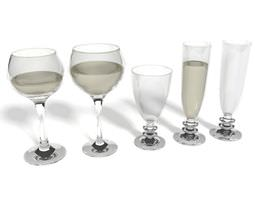 3d model modern wine glasses