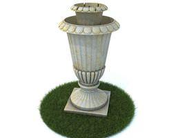 White Marble Vase 3D