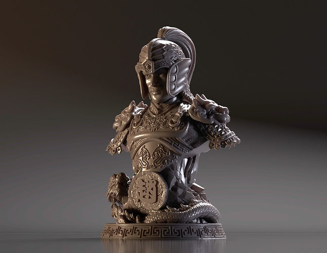 Bust of Zhao Yun - Romance of the Three Kingdoms