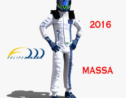felipe massa 2016 rigged low-poly 3d asset