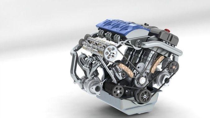khelifaoui k-motor v6 bi-turbo  3d model  1