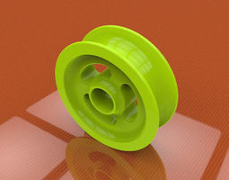 3D plastic pully