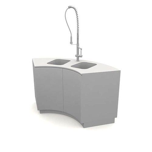 Kitchen Sink Model: 3D Kitchen Sink White