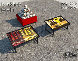 3d model fan shop level 1 realtime