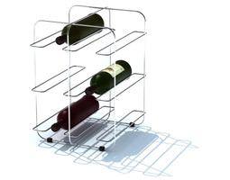 modern simplistic wine rack 3d