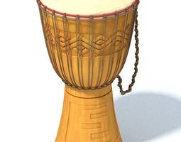 African Original Drum 3D model