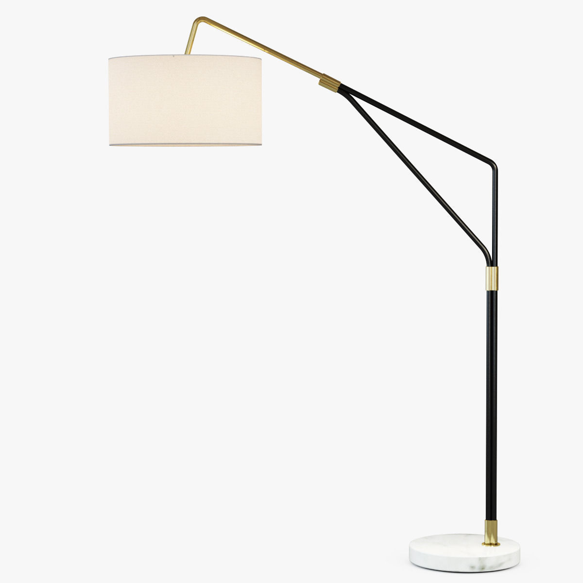 3D model Mid-Century Overarching Floor Lamp | CGTrader