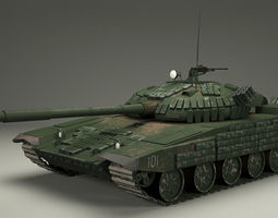 t-72 russian  tank 3d model max obj 3ds fbx