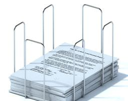 Metal Desk Paper Organizer 3D model