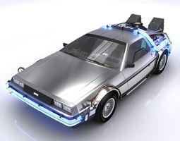 DeLorean Time Machine 3D Model