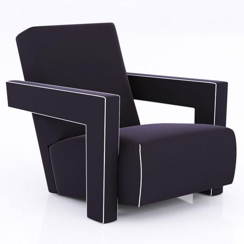 Pair Of Gerrit Thomas Rietveld Chairs 3D Model