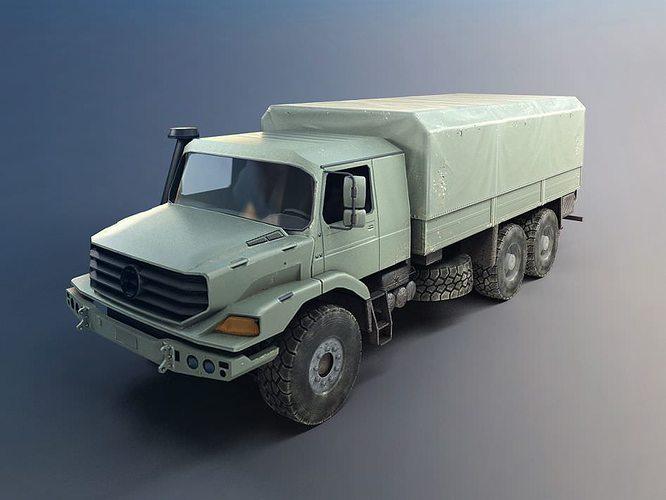 military transportation truck 3d model obj mtl 1