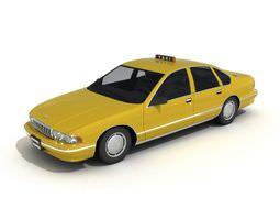 3D Modern Chevrolet Taxi