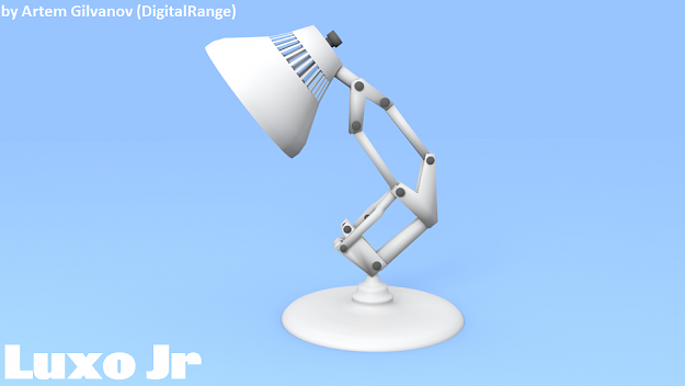 Luxo Jr Free VR AR Low Poly 3D Model