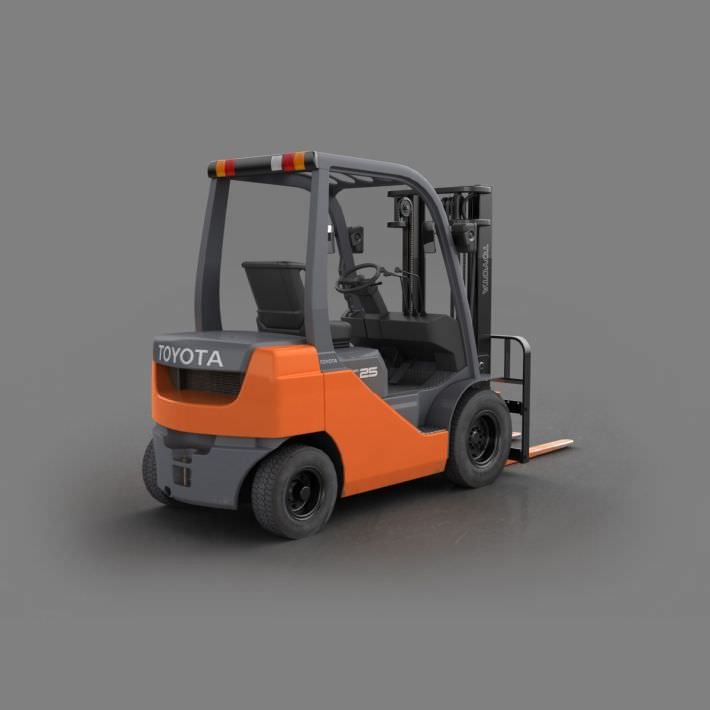Orange Toyota Forklift