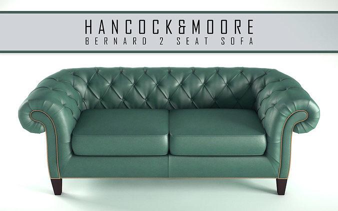 Hancock Moore   Bernard 2 Seat Sofa 3D Model