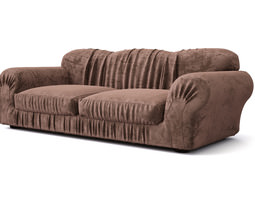 Sofa with pleats 3D