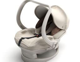 3d white baby carrier