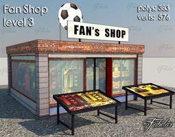 3d model fan shop level 3 low-poly