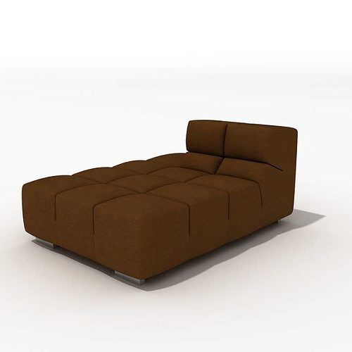 Brown sofa bed 3d model cgtrader for Sofa bed 3d model