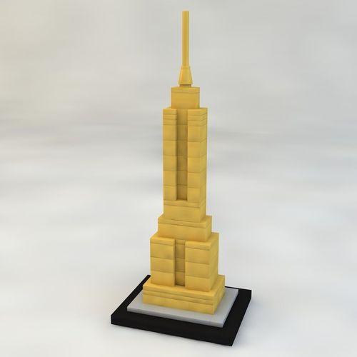 empire state building brick 3d model low-poly max obj 3ds c4d stl mtl 1