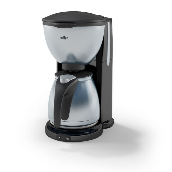Coffee Maker Braun 3d Model Obj