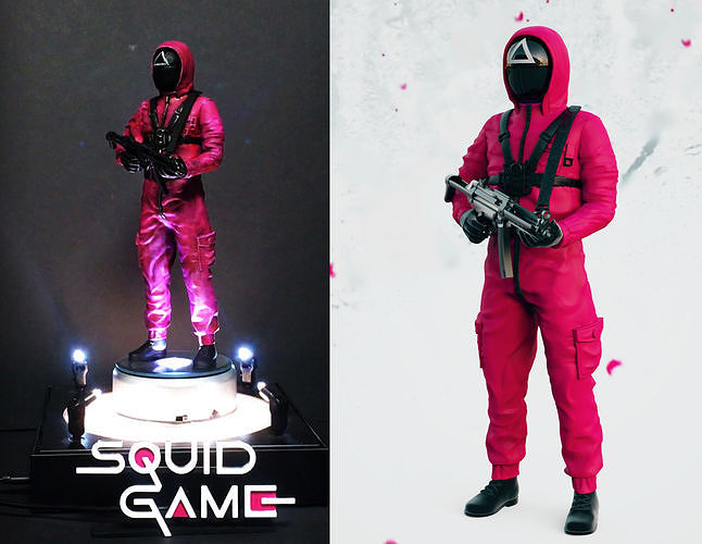 SQUID GAME PINK SOLDIER
