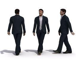Man Character Walking A 3D model