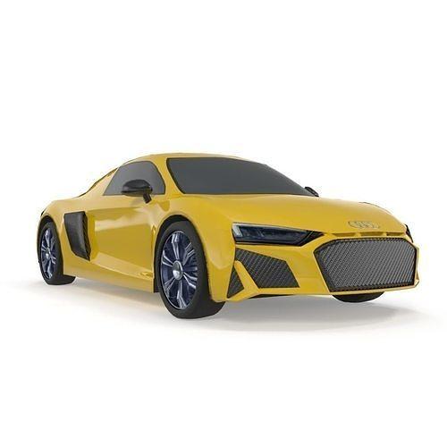 Audi R8 V10 Spyder quattro low poly