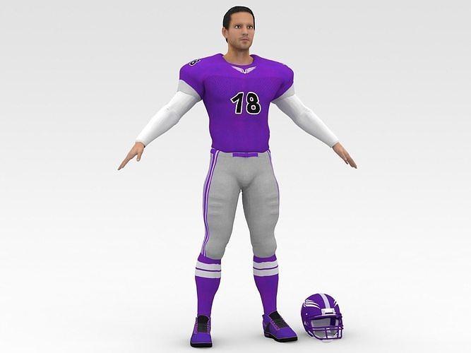 American Football Player V3