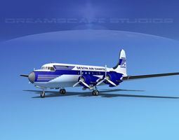 3D model Douglas DC-4 Destin Air