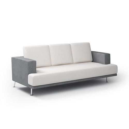 modern gray couch 3d model obj mtl 1