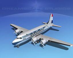 Douglas DC-4 KLM Airlines 3D model