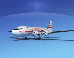 3D model Douglas DC-4 Trans World Airlines