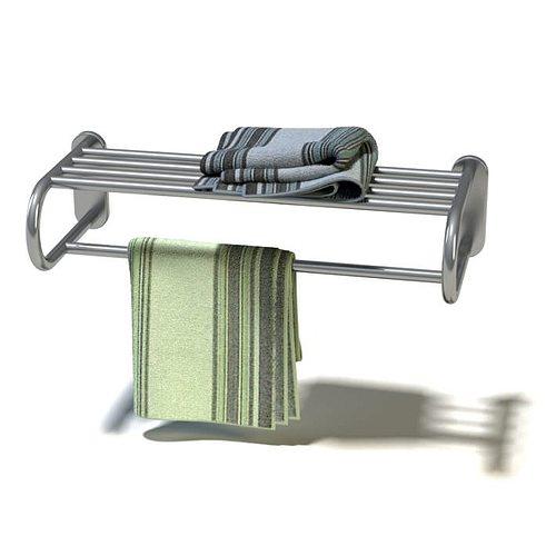 stainless towel rack 3d model  1