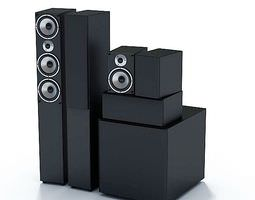 electronic system surround sound speakers 3d model
