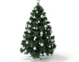 3d green christmas tree